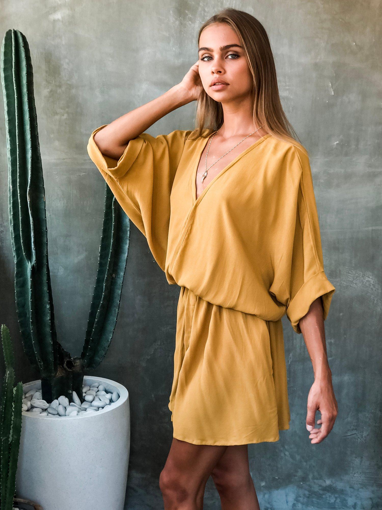 Image of DAHLIA DRESS - GOLD