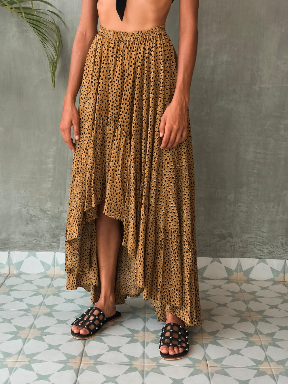 Image of SALUDA MAXI SKIRT - RANGER GOLD