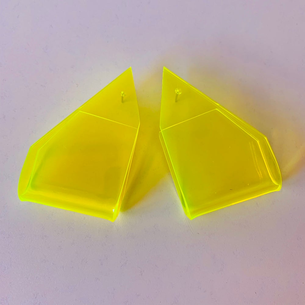 Image of Lone Wolf Yellow Earrings