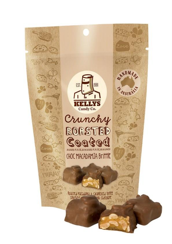 Image of CHOC MACADAMIA BRITTLE - POUCH 180G
