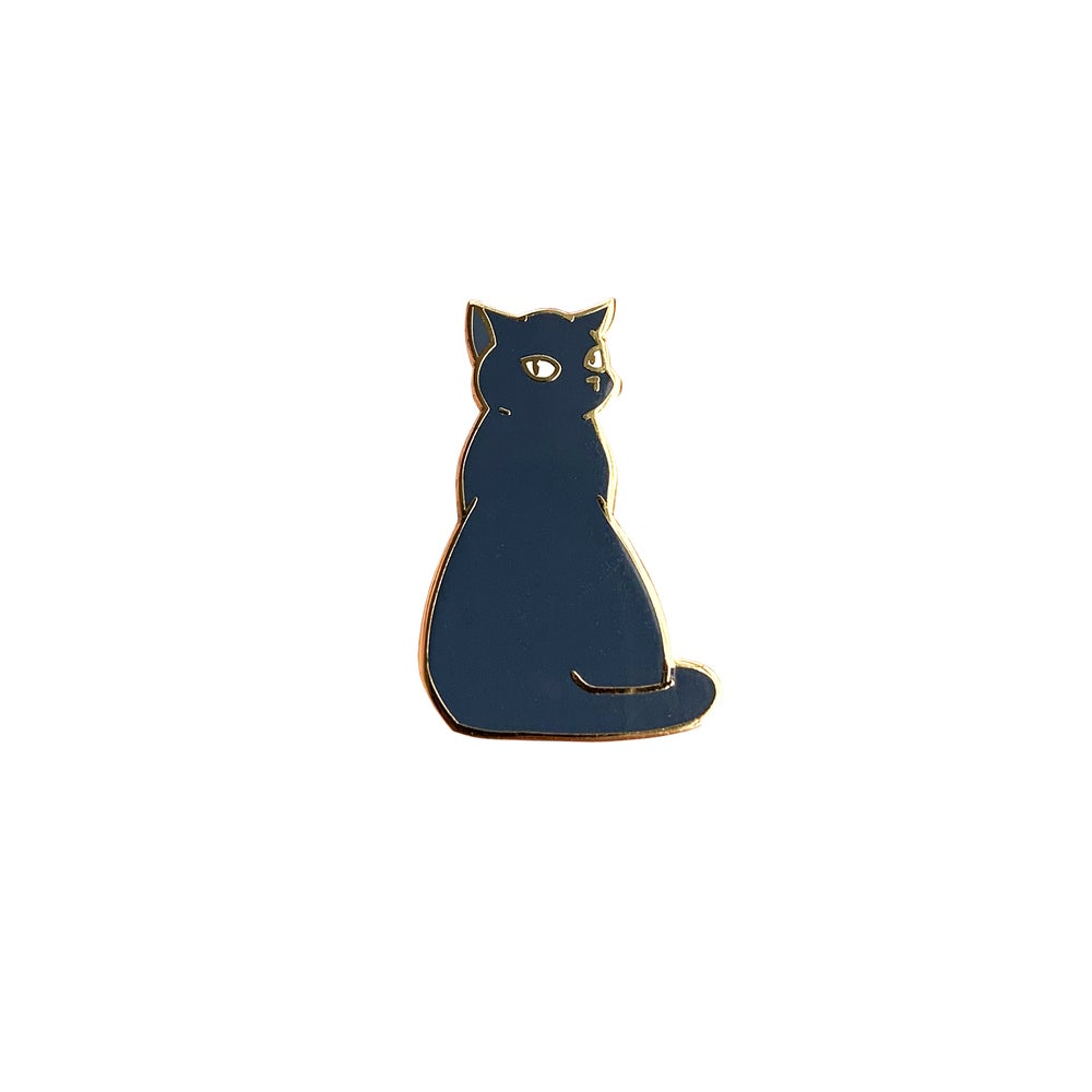 Image of Bounty the Cat Enamel Pin: Indifference