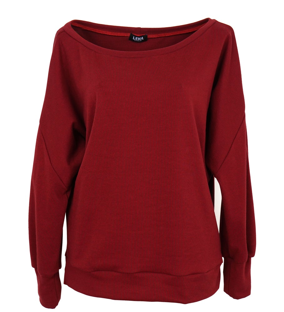 Image of Pullover weinrot Jacquard