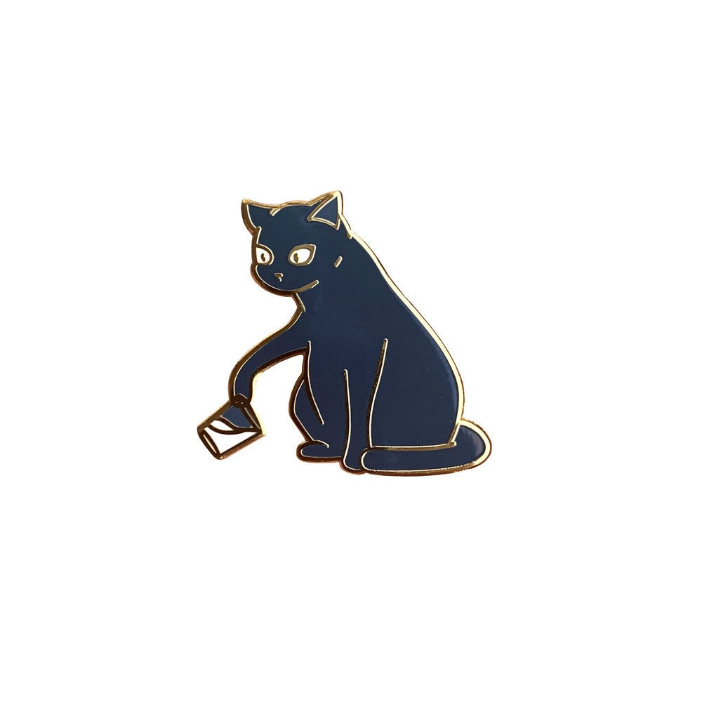 Image of Bounty the Cat Enamel Pin: Temerity