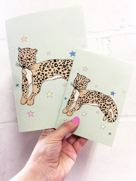 Image of Reclining Leopard Notebook