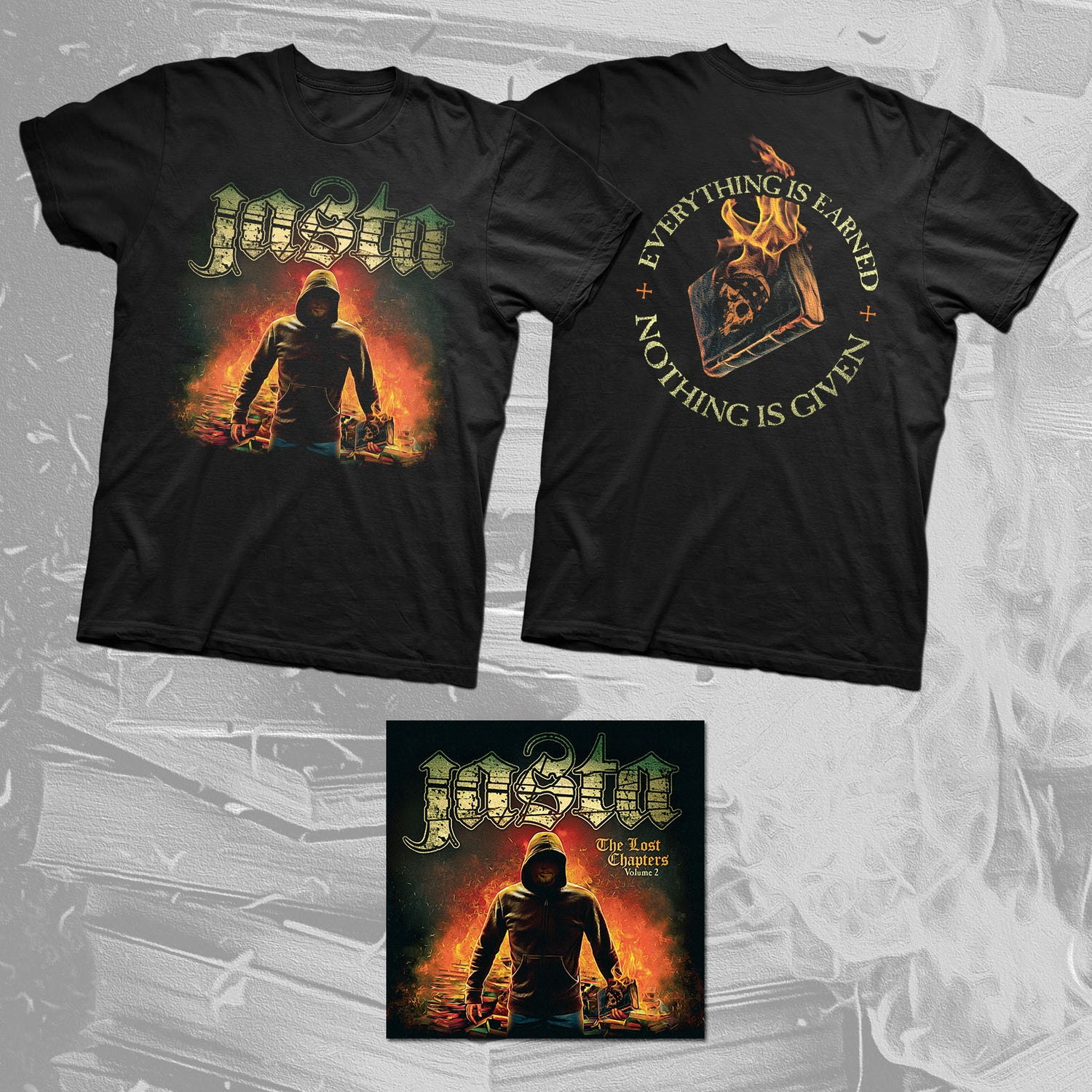 "Image of JASTA ""Album Cover Tee + CD"" bundle."