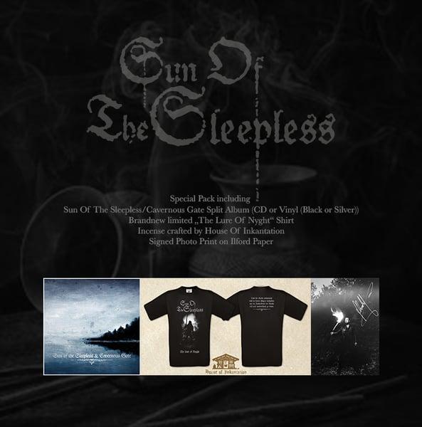 Image of Sun Of The Sleepless/Cavernous Gate Split Album Special Pack VINYL BLACK PRE ORDER