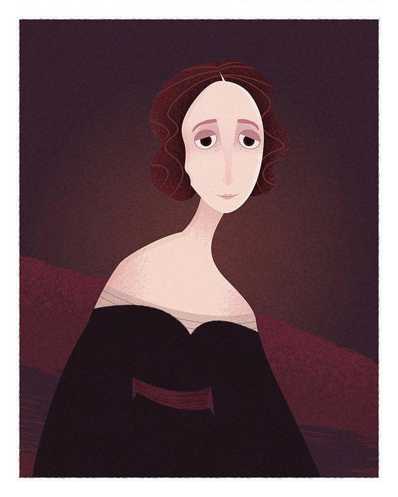 Image of Portrait de Mary Shelley | Portrait of Mary Shelley