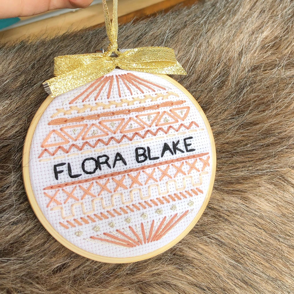 Image of Tribal name stitch/wall hanging/ornament