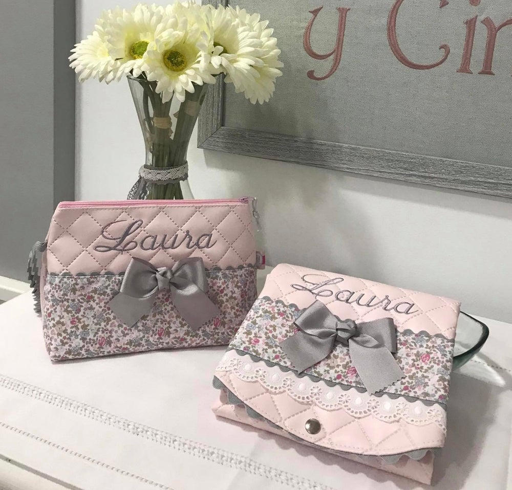 Image of Personalised wash bag & foldable changing mats