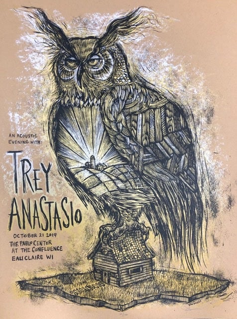 Image of Trey Anastasio Eau Claire WI poster