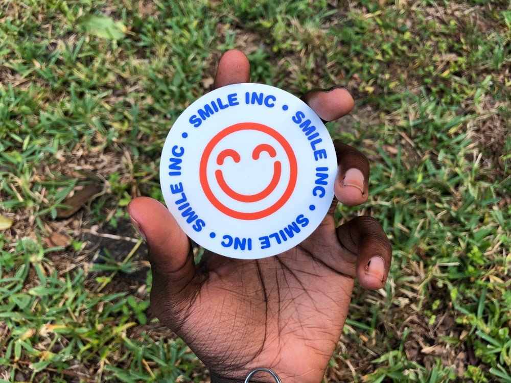 "Image of (Three) ""Smile Inc."" - Sticker"