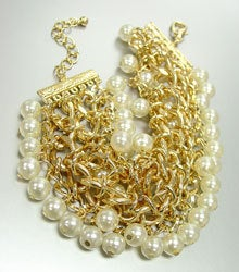Image of Chains & Pearls Bracelet
