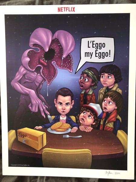"Image of Stranger things ""l'eggo my eggo"" print"