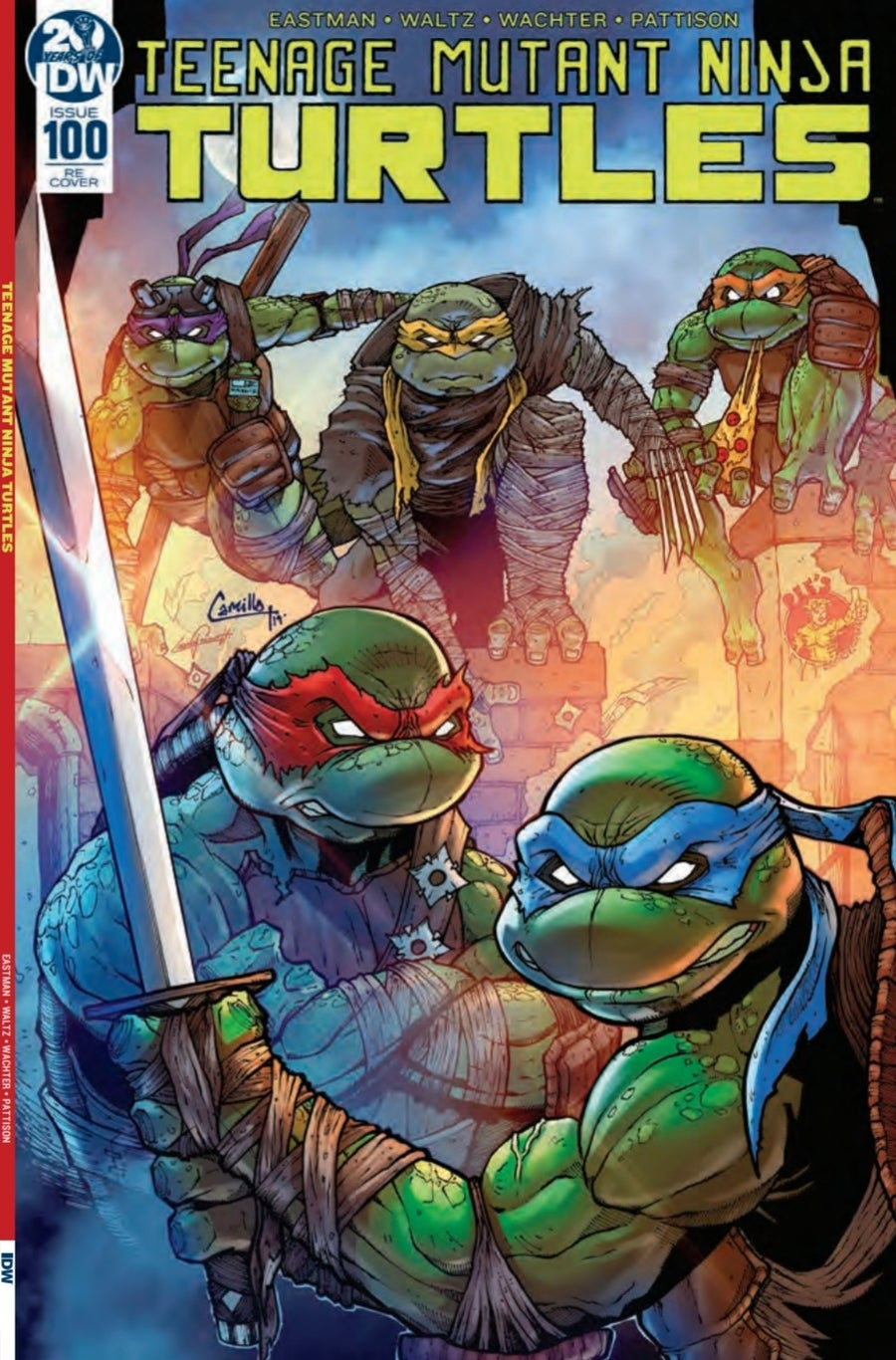 Image of TMNT issue 100 dee's comics retailer exclusive variant