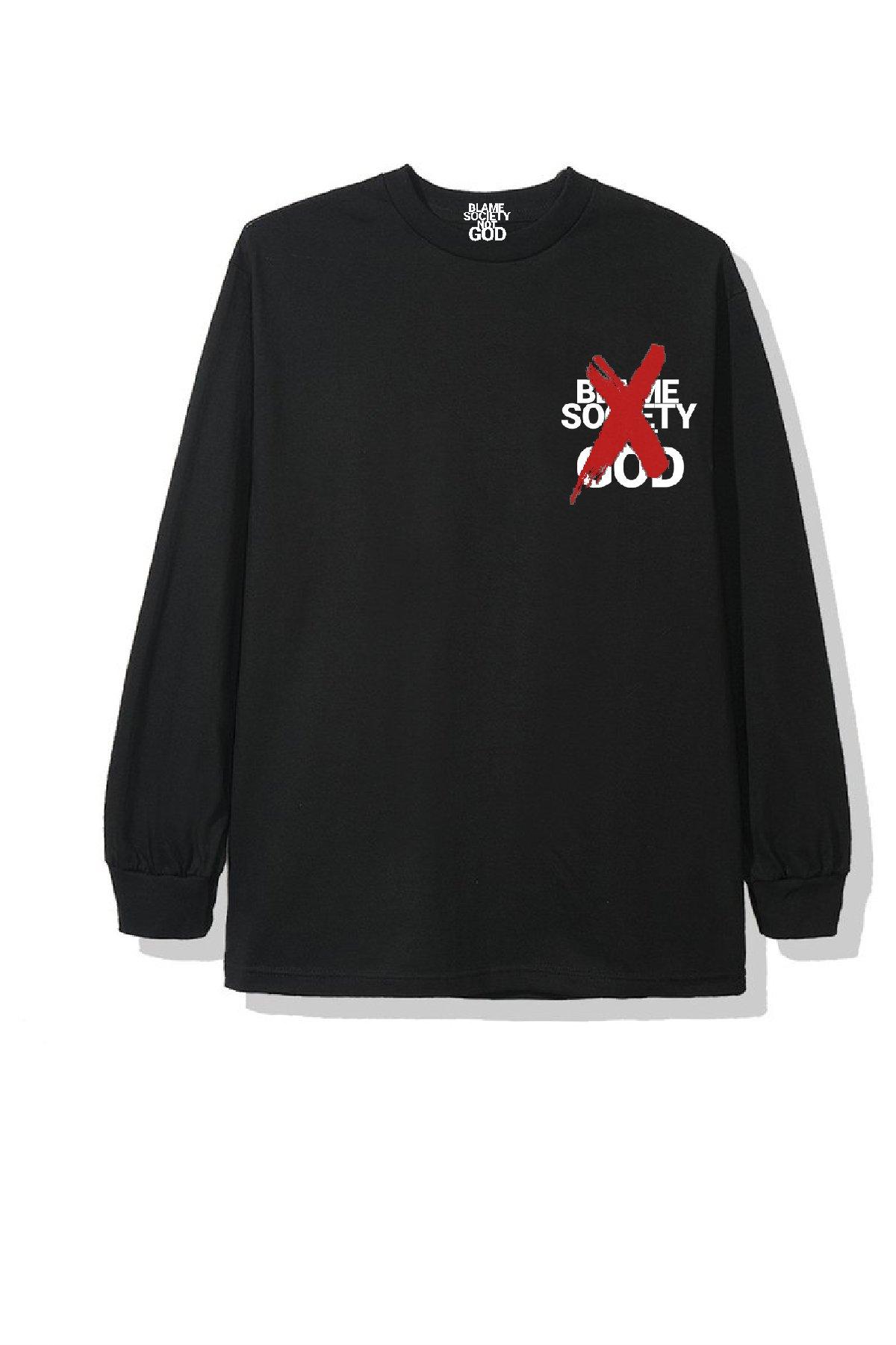 Image of BSNG  LOGO X 2 BLACK T-SHIRT