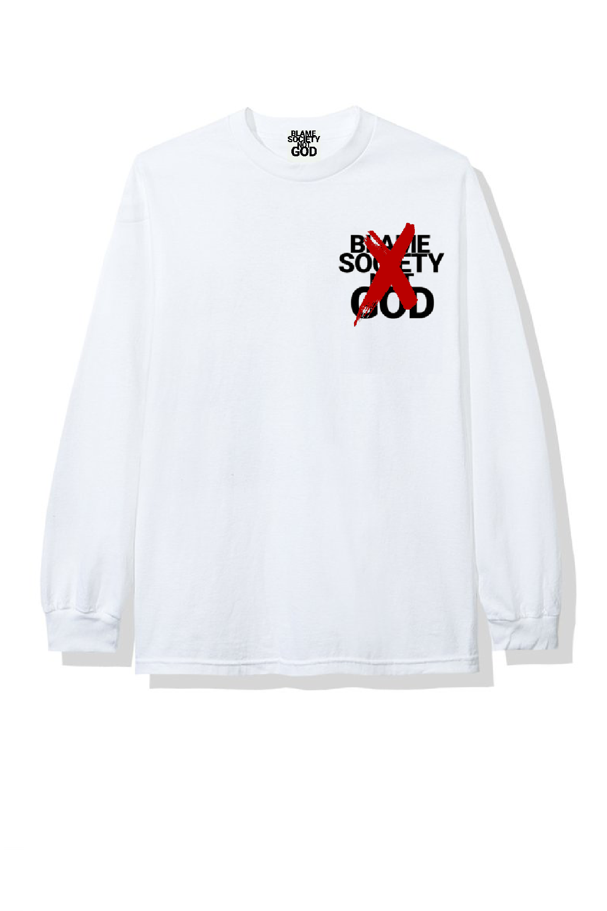 Image of BSNG  LOGO X 2 WHITE T-SHIRT