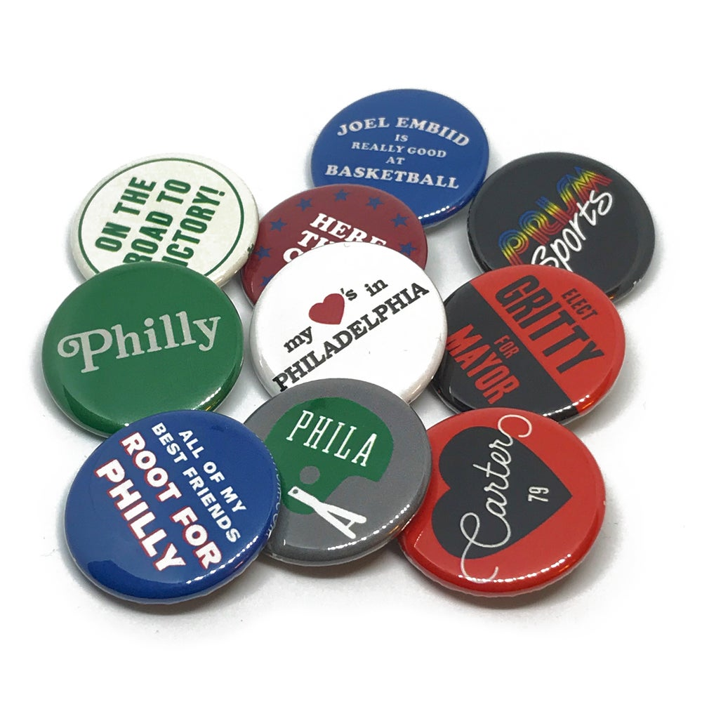 Image of Philly Button Badge Set Volume 1