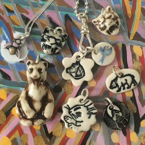 Image of SPIRIT ANIMAL TALISMANS & CHARMS with or without chains from $35