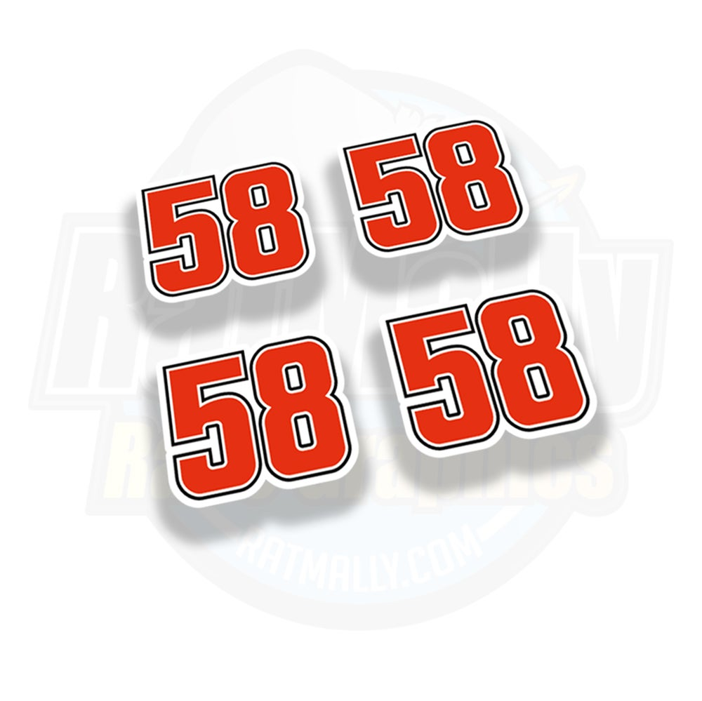 Image of #58 Marco Simoncelli Race Numbers