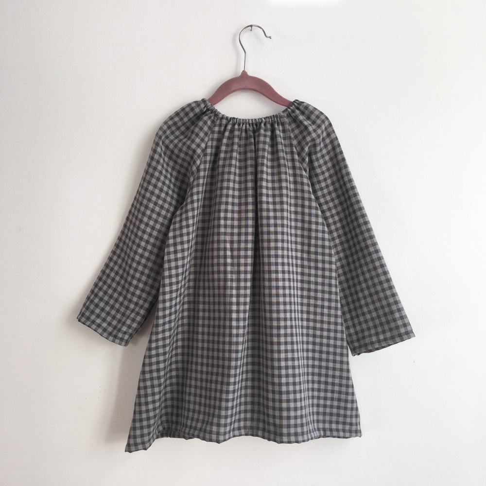 Image of Sophie Tunic-double gauze grey check