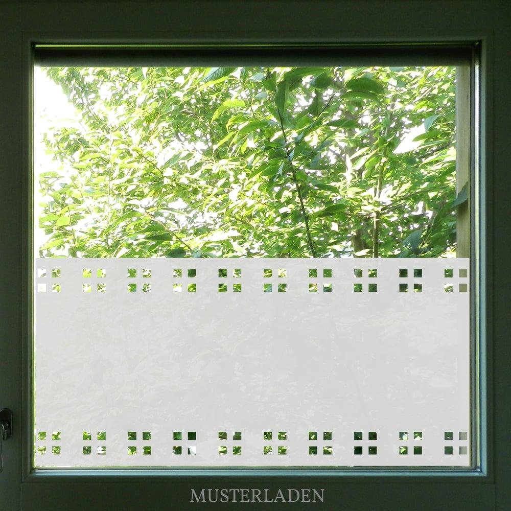 Image of Fenster Sichtschutz geometrisch, blickdichte Folie Badezimmer