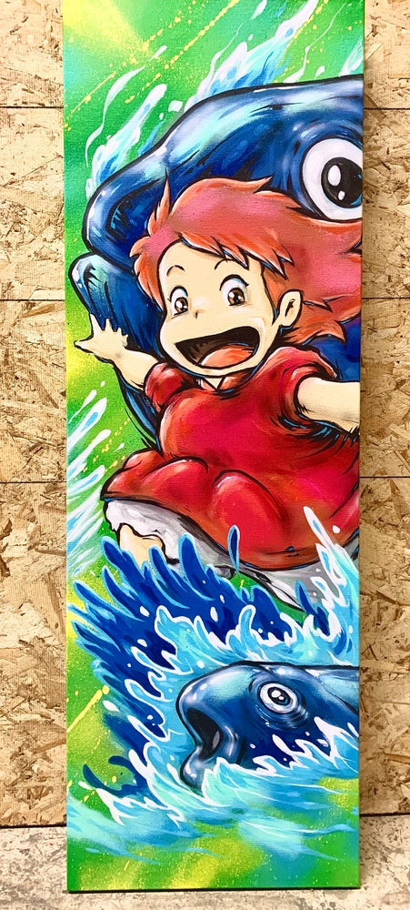 Image of Ponyo canvas painting