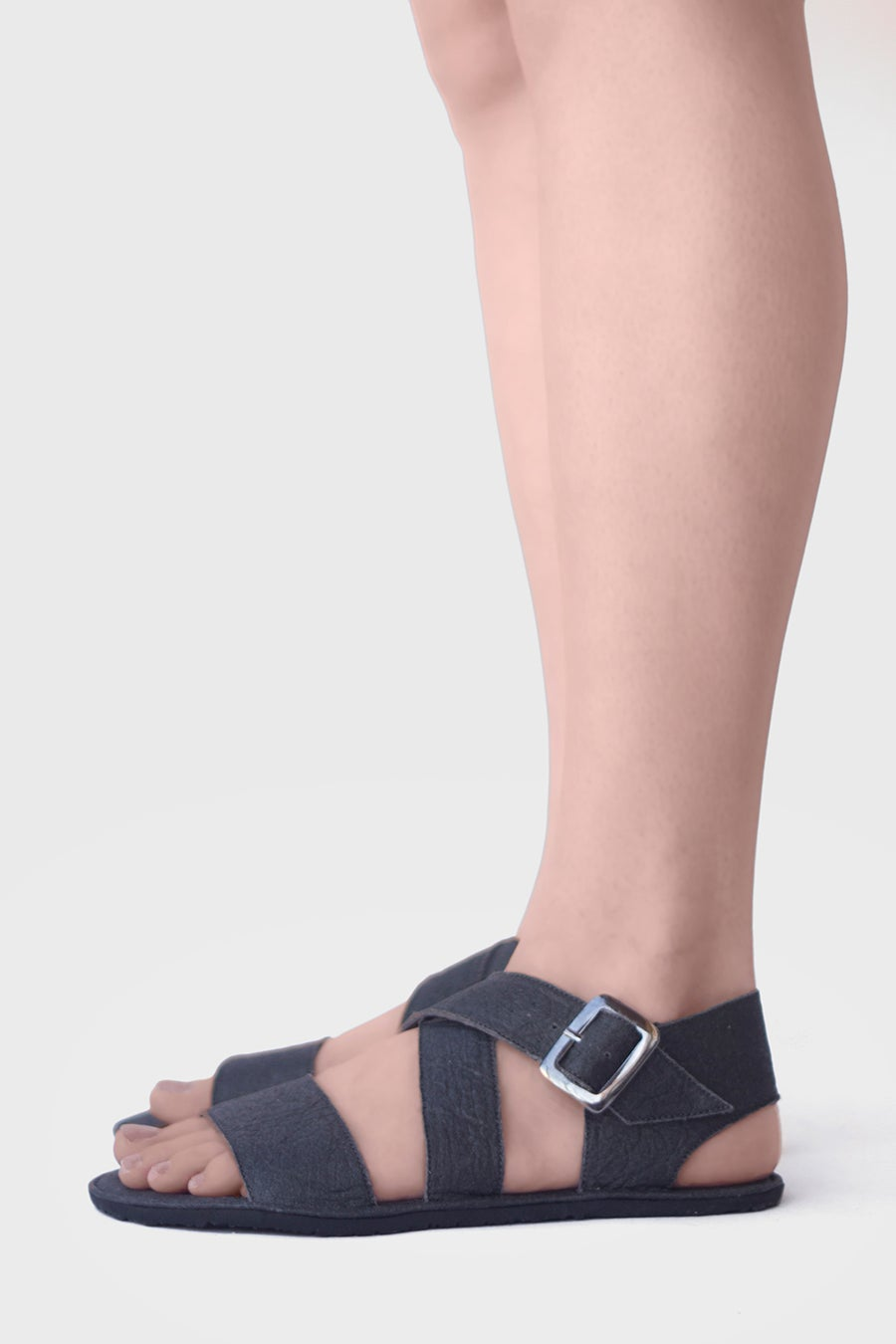 Image of Sandal X in Charcoal Piñatex®