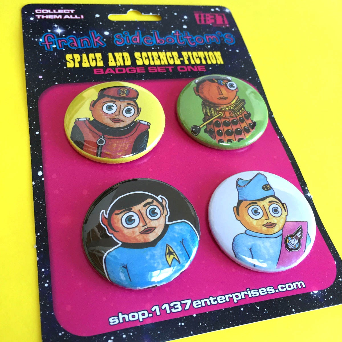 Image of Space and Science Fiction Badge Set 1
