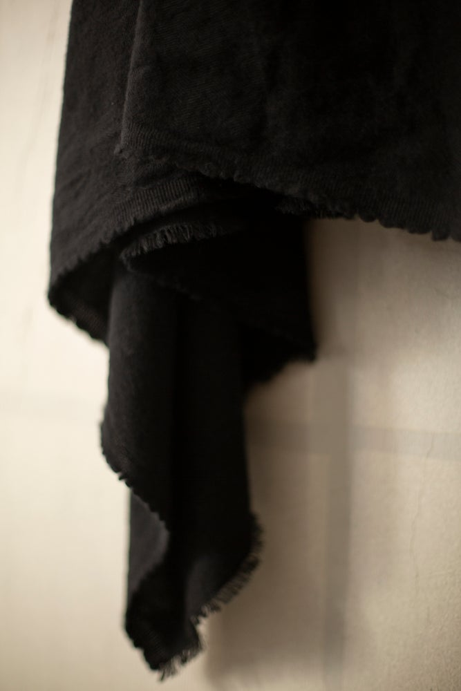 Image of Large wool/cotton jacquard woven scarf/blanket by Mittan