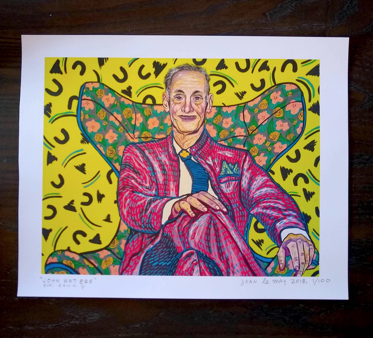 Image of John Waters Signed and Numbered Giclée Print