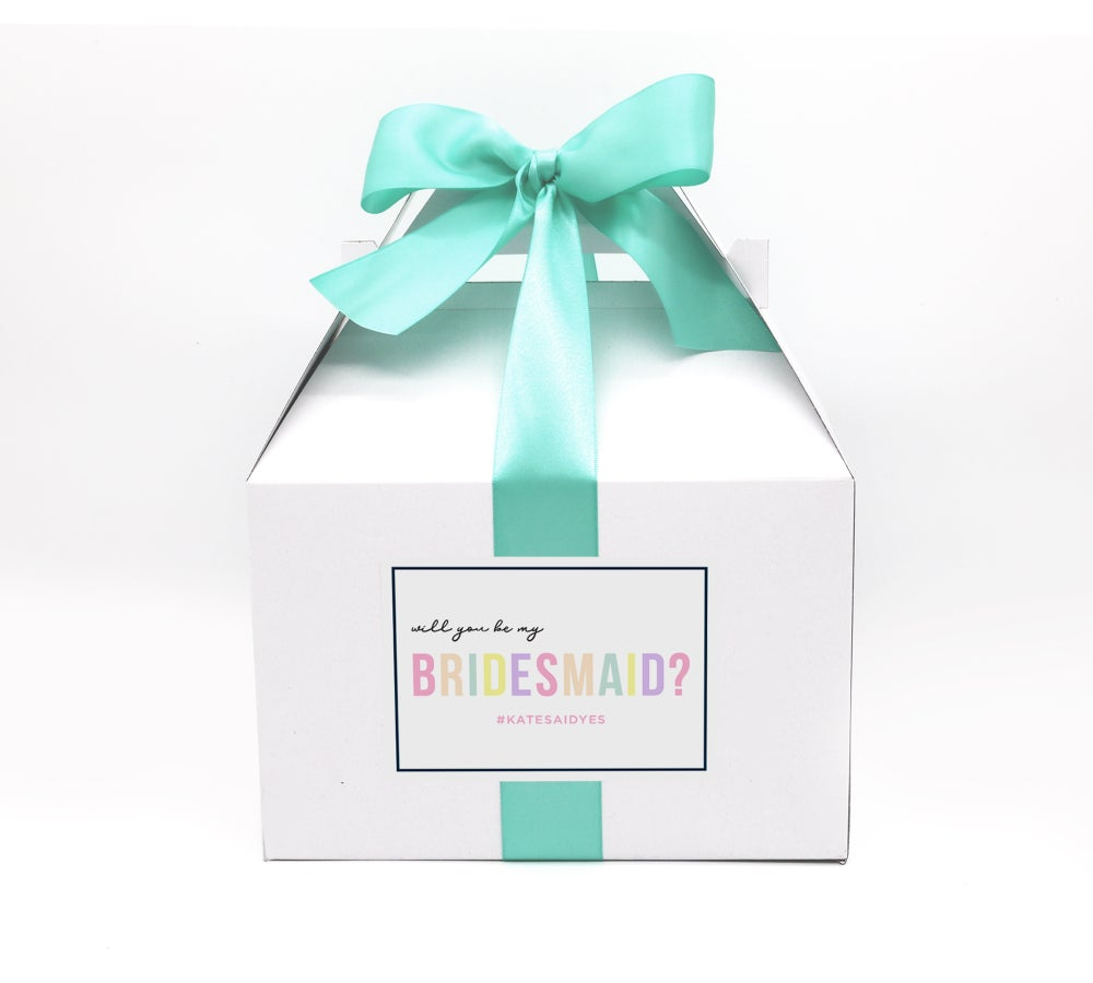 Image of Custom Pastel Will You Be My Bridesmaid Proposal Box