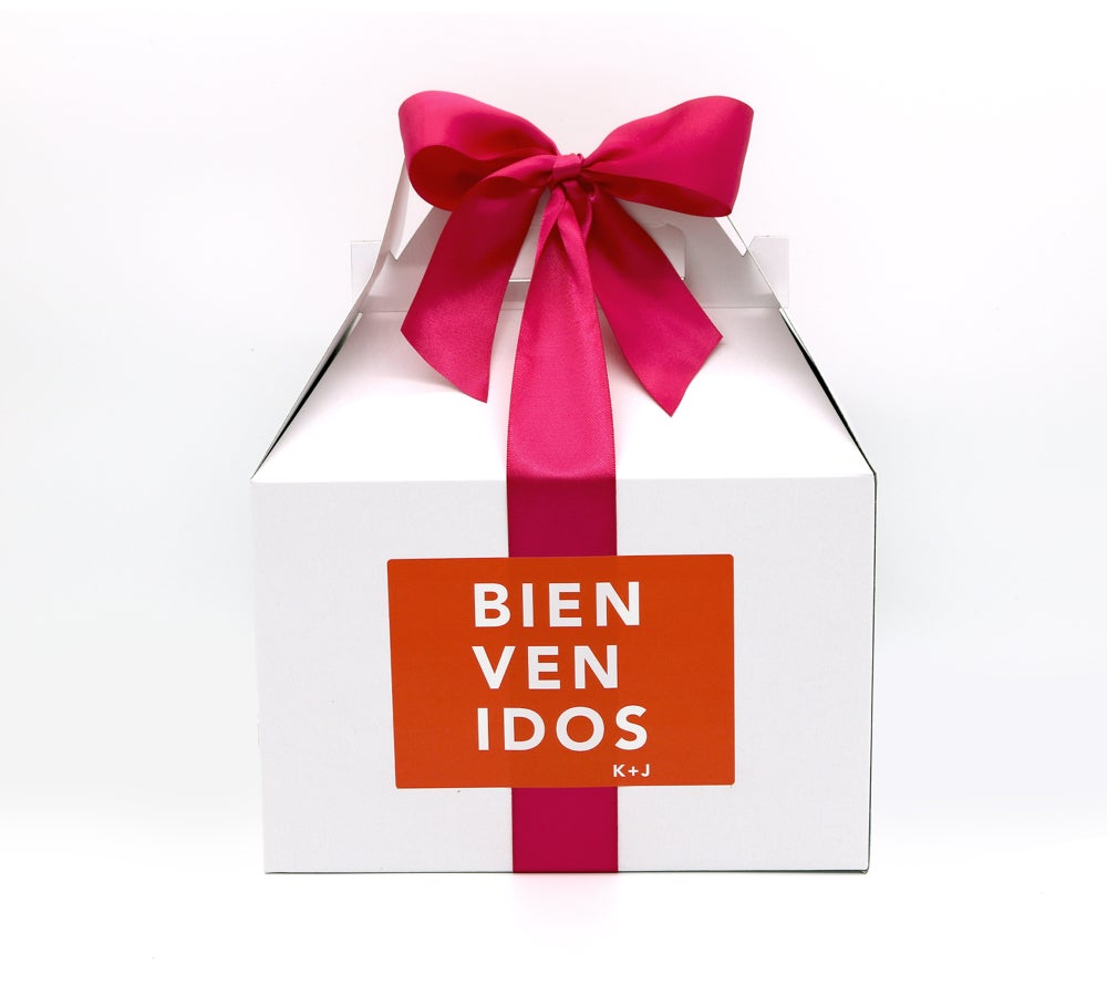 Image of Custom Bienvenidos Wedding Welcome Box