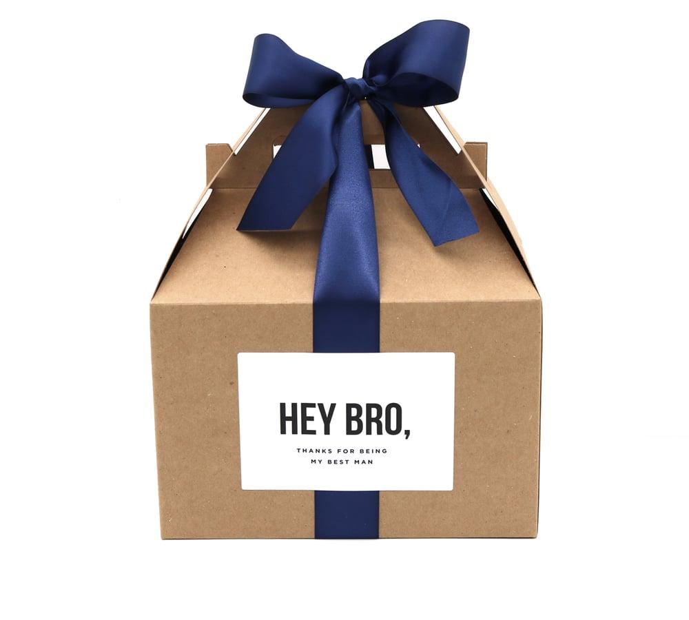 Image of Custom Hey Bro Best Man Thank You Box