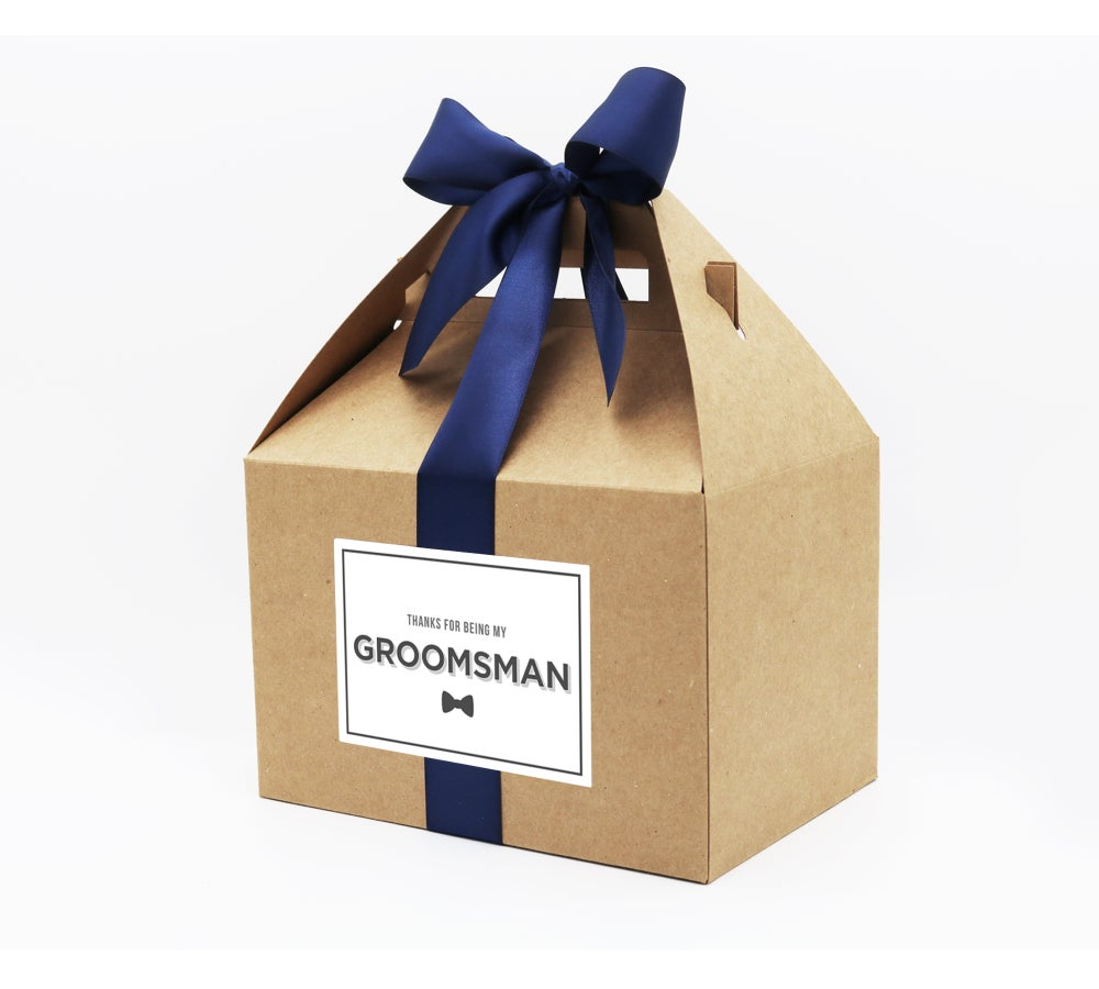 Image of Custom Bowtie Groomsman Thank You Box