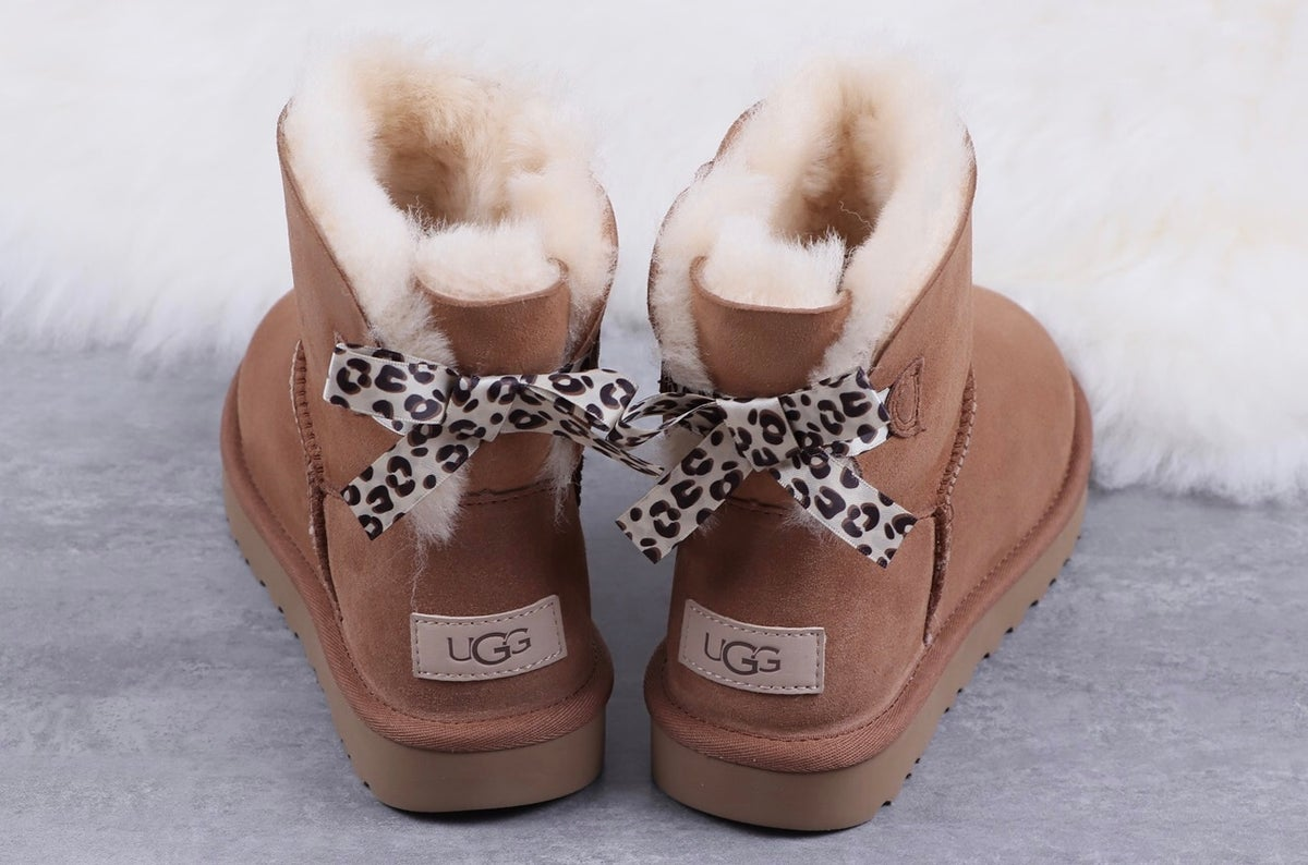 Image of Cheetah Bow Short Ugg