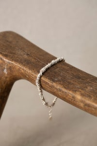 Image of Gathered silver bracelet by Stephanie Schneider