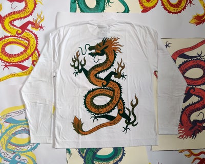 Image of Golden Green Dragon Longsleeve