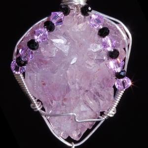 Image of Amethyst Flower Elestial Crystal Pendant
