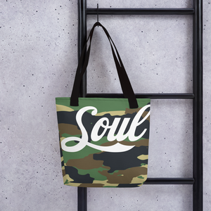 Image of Soul Camo Record Totes (Green & Red)