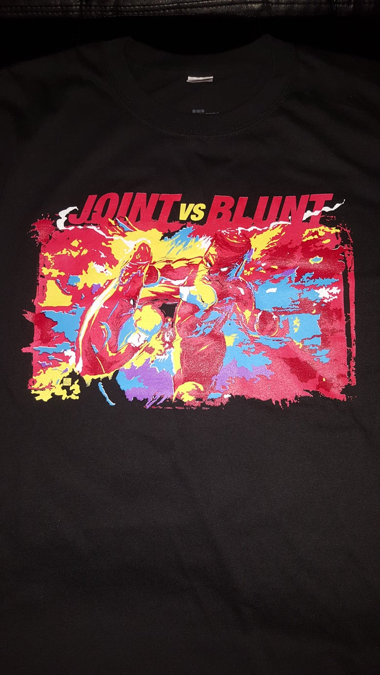 Image of 2 MANY BLUNTS JOINT VS BLUNT T SHIRT (IN STOCK)