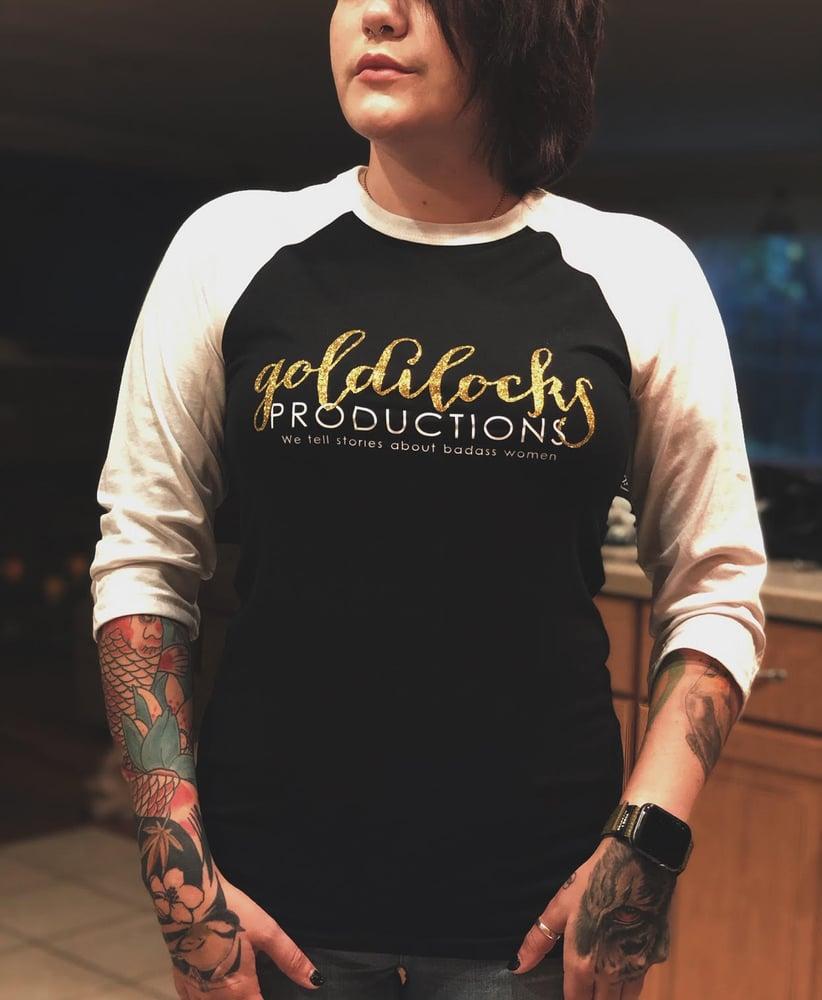 Image of NEW! Goldilocks Productions Raglan Shirt