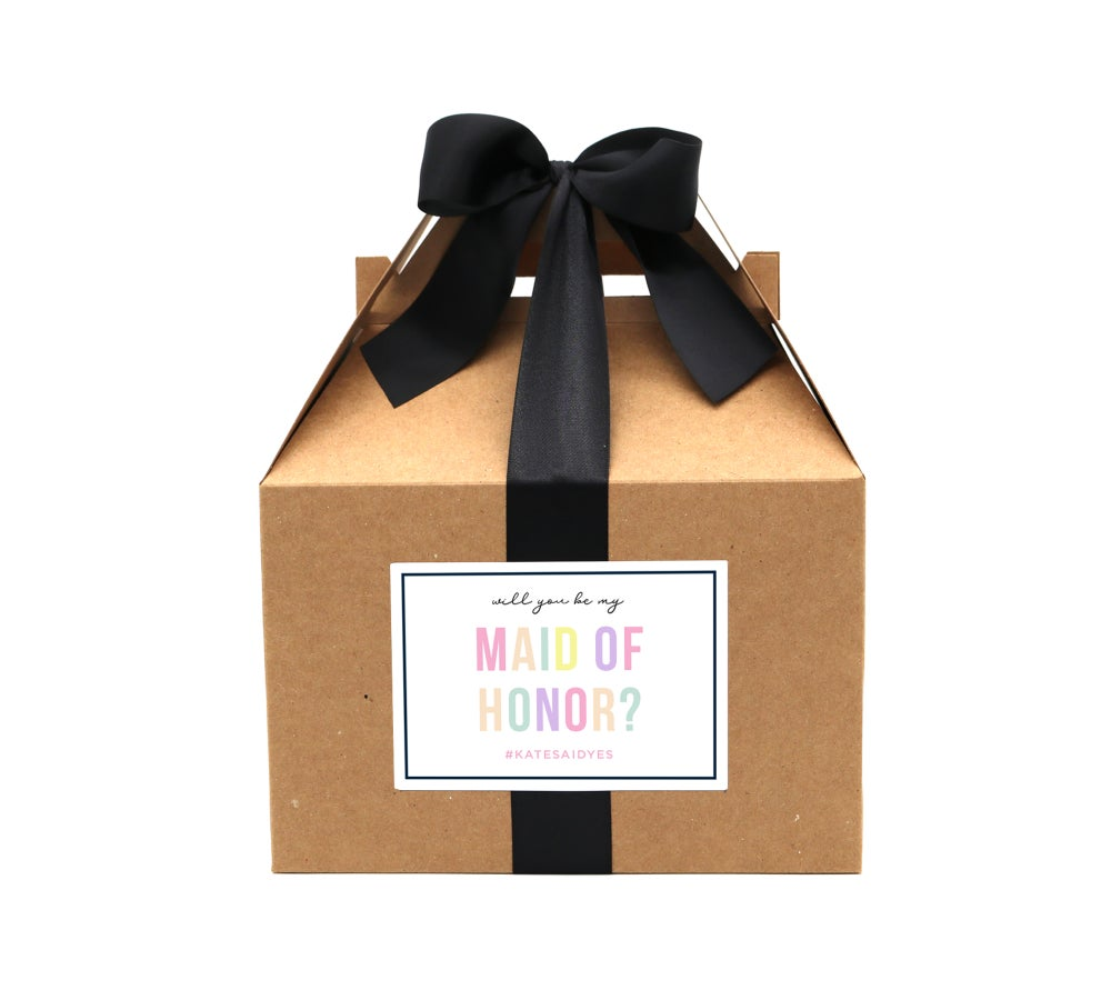 Image of Custom Pastel Will You Be My Maid of Honor Proposal Box