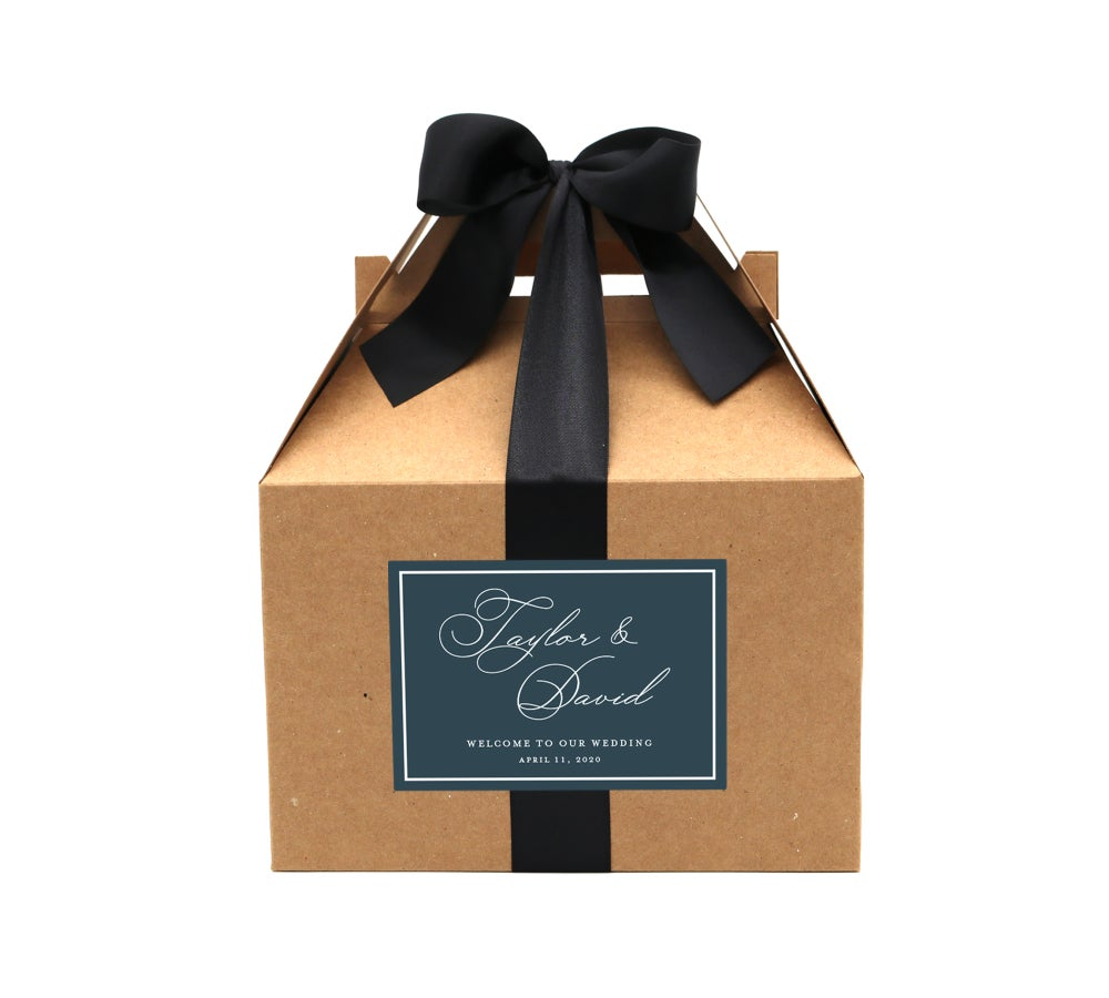 Image of Custom Script Names Wedding Welcome Box