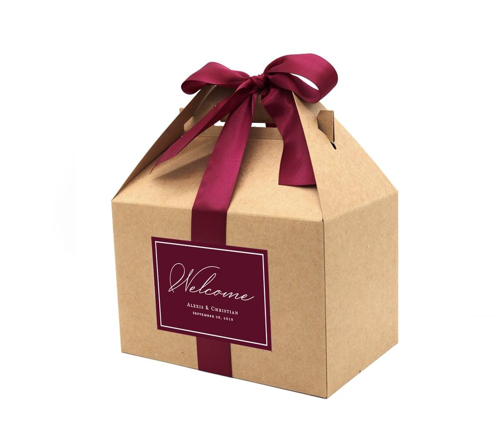Image of Custom Wedding Welcome Boxes