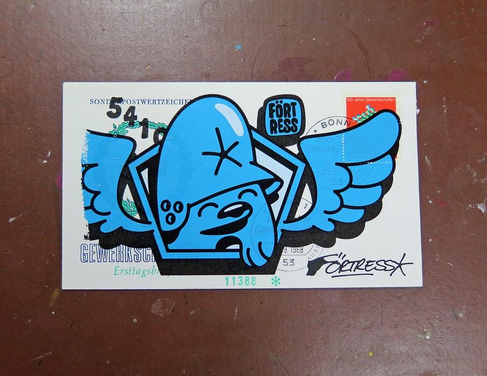 Image of FDC Wingman Blue / print
