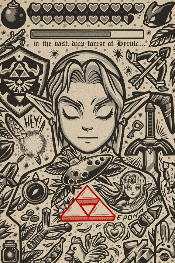 Image of Link - Print - Red Heart Variant AP