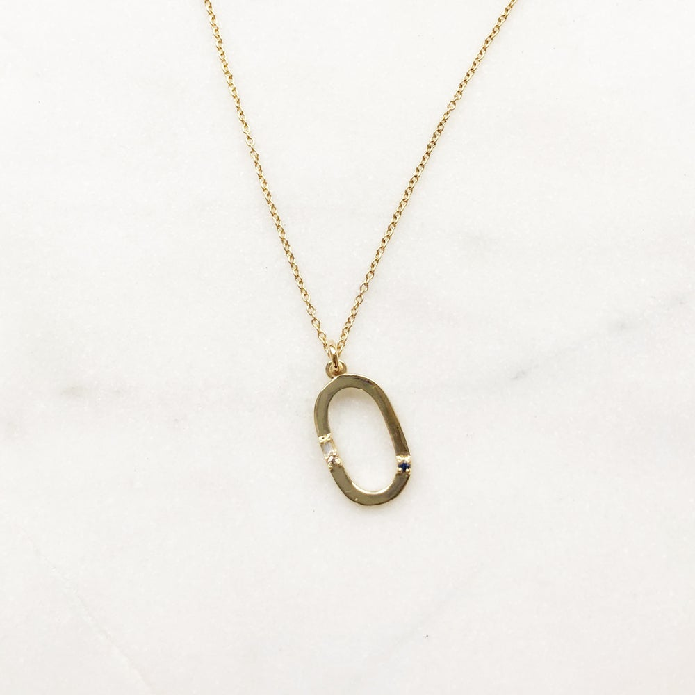 Image of LETTER PENDANT NECKLACE (O-Y)
