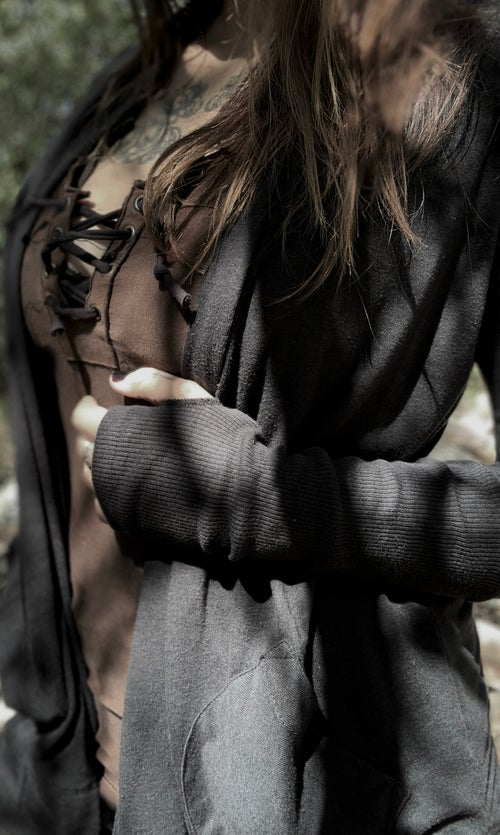 Image of MTO ORDER ECO WRAP CARDIGAN FOREST DWELLER