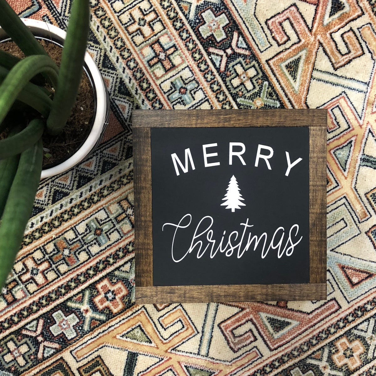 Image of Merry Christmas with tree