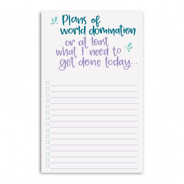 Image of World Domination Notepad